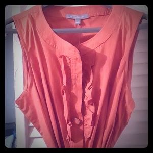NWT Ny collection orange button down dress
